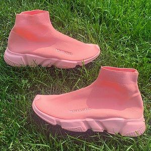 BALENCIAGA pink speed trainer running shoes